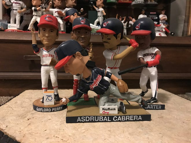 The Cleveland Indians bobbleheads that were given out as a special stadium promotion in 2012 included Gaylord Perry, Sandy Alomar Jr., Carlos Baerga, Joe Carter and Asdrubal Cabera.