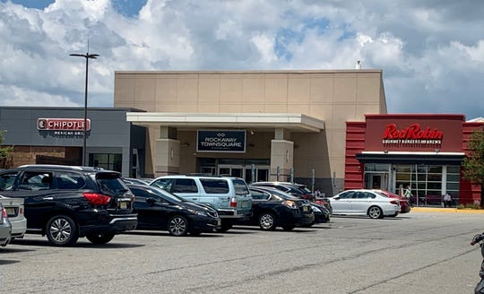 Shoppers returned to Rockaway Townsquare mall on Monday.