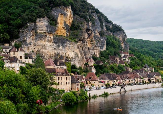 Along the Dordogne River.