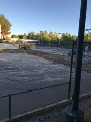 Images of the demolition of Lakeridge Tennis Club courts. Andre Agassi won his first pro tournament at Lakeridge in 1986.
