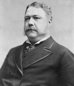 Chester A. Arthur, American attorney and politician, served as the 21st President of the United States, from 1881 to 1885. He elbowed his way through national legislation and business matters using a Richmond-made desk.