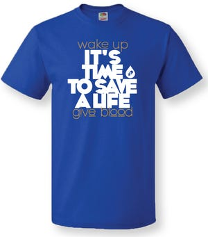 "Donor's during a July 7 blood drive at Reid Health will receive an ""it's time to save a life"" T-shirt."