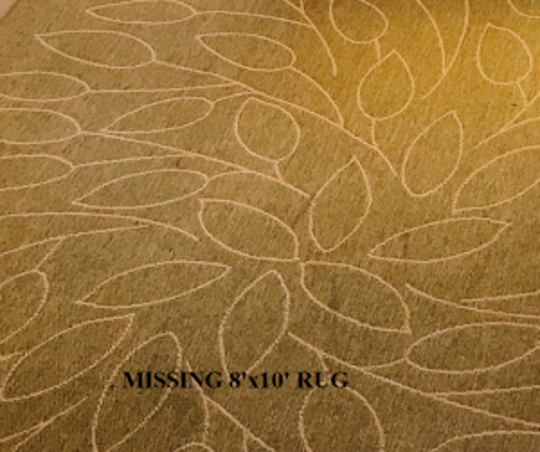 Pictured is an 8'x10' rug that is missing from the Bethany Beach home of Sheila Doyle, who was reported missing June 15 and is now believed to be dead, according to Delaware State Police.