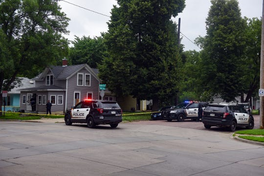 Police investigate after a shooting on Monday afternoon, June 29, on the 900 block of Prairie Ave. in Sioux Falls.