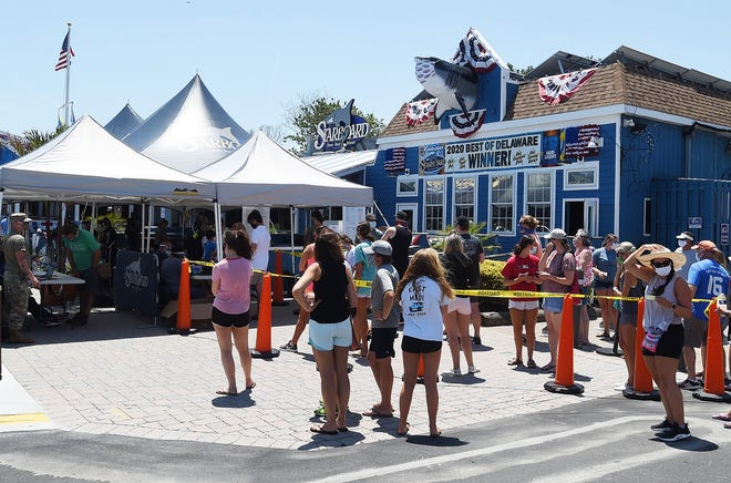 Testing for COVID-19 was held at the Starboard in Dewey Beach on Monday, June 29th. Hundreds showed up for the Oral Swab Test held in conjunction with DEMA, Delaware National Guard, Starboard and Sussex County EMS.