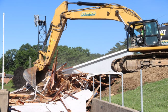 Demolition of the football stadium began last week at Muskingum University. The demolition will lead the way to the new Health and Wellness Facility set to open in 2022.