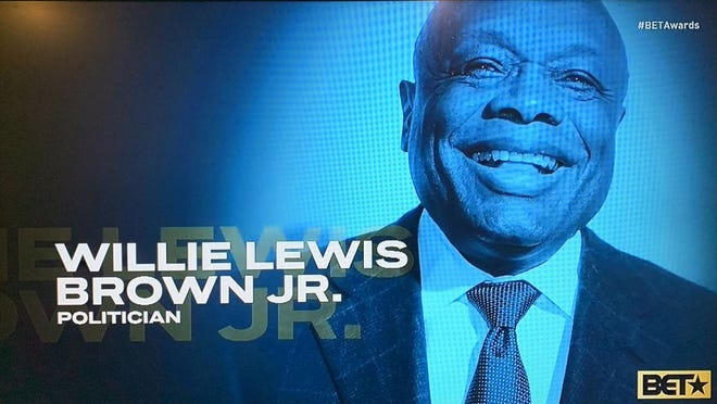 "Former San Francisco Mayor Willie Brown was mistakenly added to the ""In Memoriam"" segment of the BET Awards on Sunday."