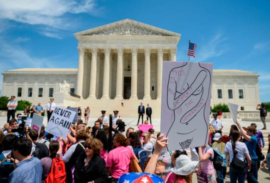 Abortion rights activists at the US Supreme Court in Washington, D.C., on May 21, 2019.