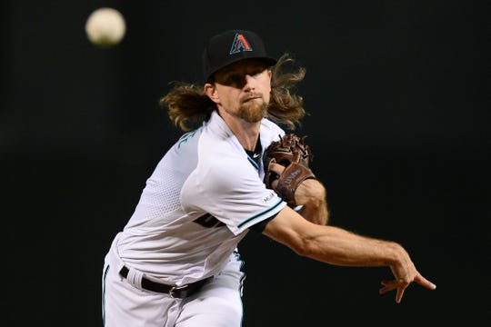 Mike Leake, pitcher de los D-backs.