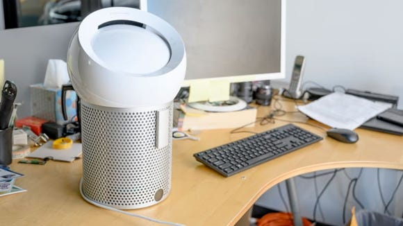 This personal purifying fan packs a large footprint.