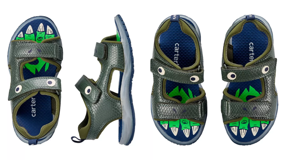 These dino sandals are too cute.