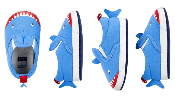 It doesn't get better than shark shoes.