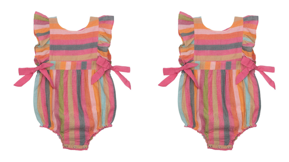 This sweet onesie adds a pop of color to your baby's wardrobe.
