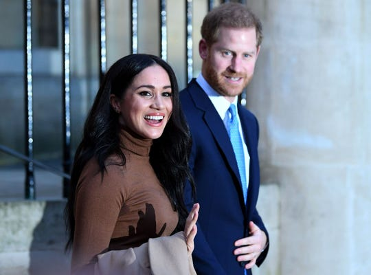 British Prince Harry, Duke of Sussex, and Meghan, Duchess of Sussex, are leaving Canada House on January 7, 2020 after thanking for the hospitality and support they received during their stay in the country.