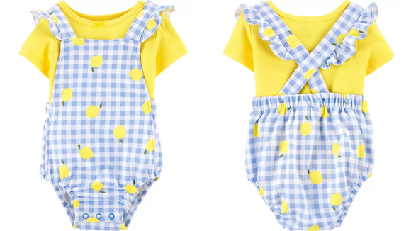 These fun and colorful coveralls are perfect for summer.