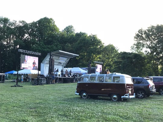 The scene at the John Ginty and Friends concert Thursday, June 25 at the Fosterfields Living Historical Farm in Morristown. The Mayo Performing Arts Center presented the show.