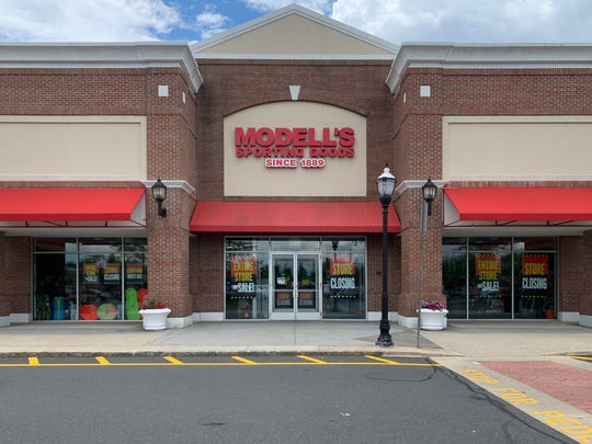 Going-out-of-business sales have restarted at Modell's Sporting Goods, including at this store in Holmdel.
