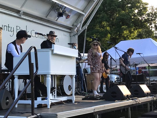 John Ginty and Friends on  Thursday, June 25 at the Fosterfields Living Historical Farm in Morristown. The Mayo Performing Arts Center presented the show.