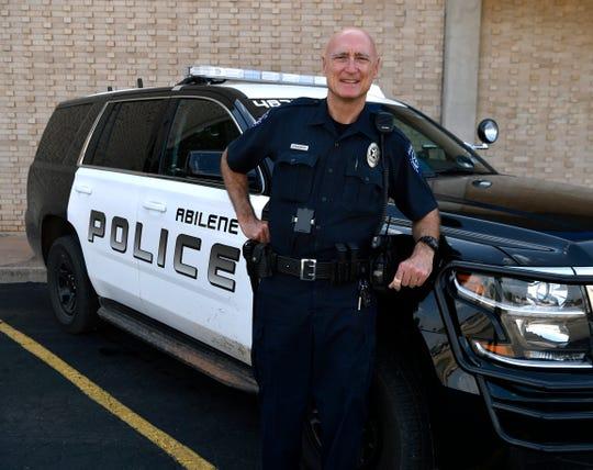 Abilene police officer Danny Blankenship. After 35 years, he will retire Wednesday