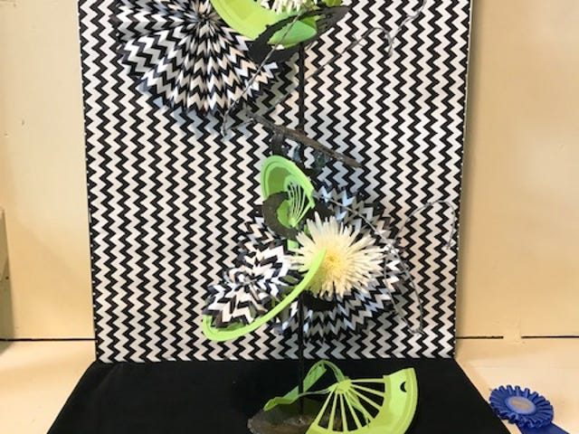 This is an op art design entered at the 2019 Ohio State Fair by Mary Lee Minor. This brought a first and a first 'Best of Show' for the day. op art will be displayed at the 2020 Crawford County Fair.