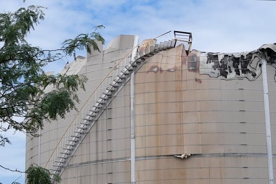 The aftermath of an asphalt tank explosion in Gloucester City Tuesday, June 30, 2020.