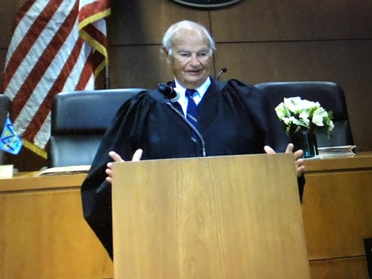 Former Middlesex County Prosecutor and Judge Alan Rockoff swore In Yolanda Ciccone as the new Middlesex County prosecutor