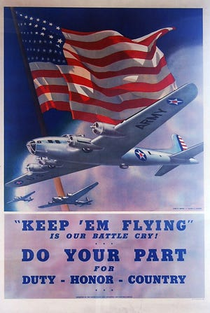 One of the World War II posters on display in a new exhibit at the Johnson-Humrickhouse Museum on display through Dec. 31.