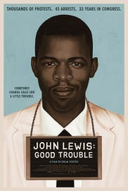 Poster for 'John Lewis: Good Trouble' documentary.