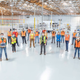 General Motors sent a team of engineers and manufacturing experts to Reno, Nevada to transform a shed into an assembly line to build ventilators. This image was taken between APril 27 and May 1,  2020.