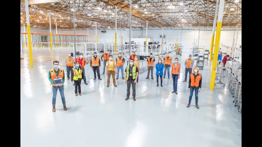 General Motors sent a team of engineers and manufacturing experts to Reno, Nevada, to transform a shed into an assembly line to build ventilators.