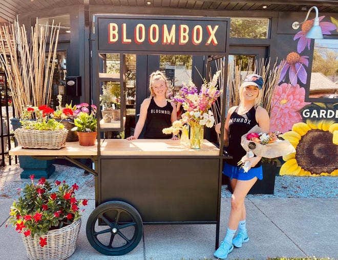 Olive's Bloombox now has a mobile flower cart that can be rented for private events.
