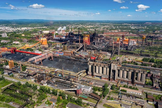 The industrial area of Nizhny Tagil, some 1,400 kilometers (870 miles) east of Moscow, Russia.