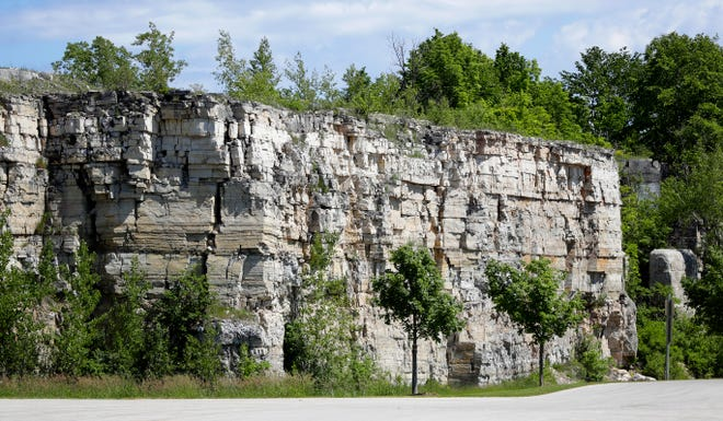 The quarry at George K. Pinney County Park pictured on June 12, 2020 in Sevastopol, Wis.