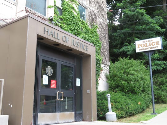 Ithaca police officers reported on Thursday that red paint was dumped on the front entrance doors  of IPD Headquarters. By Tuesday morning, there was no paint left. June 30, 2020