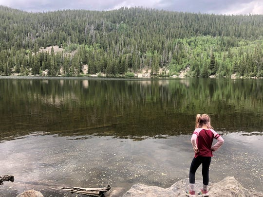 This week on the Homestyle podcast, co-hosts Leigh Guidry and Joe Cunningham share their recent experiences on two very different vacations and why they were much-needed and a little different because of COVID-19. Here Leigh's daughter Avery Guidry, 6, stands before Bear Lake in Rocky Mountain National Park, Colorado.