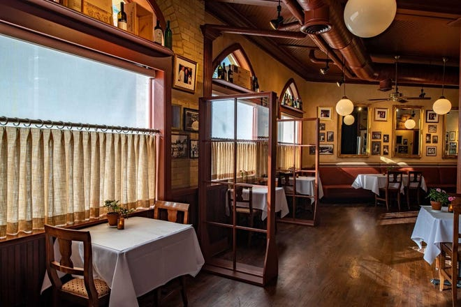 At Ristorante Bartolotta, 7616 W. State St. in Wauwatosa, tables have been placed far apart in the dining room and custom dividers put in place. Those are two of the safety measures taken before reopening the restaurant July 8 for the first time since the coronavirus pandemic closed it in March.