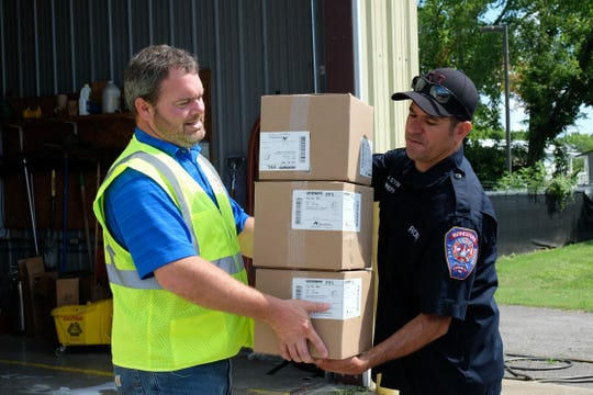 Republic Services announced a donation of 60,000 N95 masks to Rutherford County to help protect essential service providers and other community members in the midst of COVID-19.