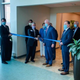 Officials with Saint Thomas Rutherford Hospital gather for a ribbon-cutting ceremony June 18, 2020, to celebrate the completion of an $82 million vertical expansion that added three floors to building's west patient tower, 60,000 square feet and 72 patient beds.