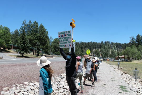 There was another Black Lives Matter protest in Cloudcroft on June 30, 2020.