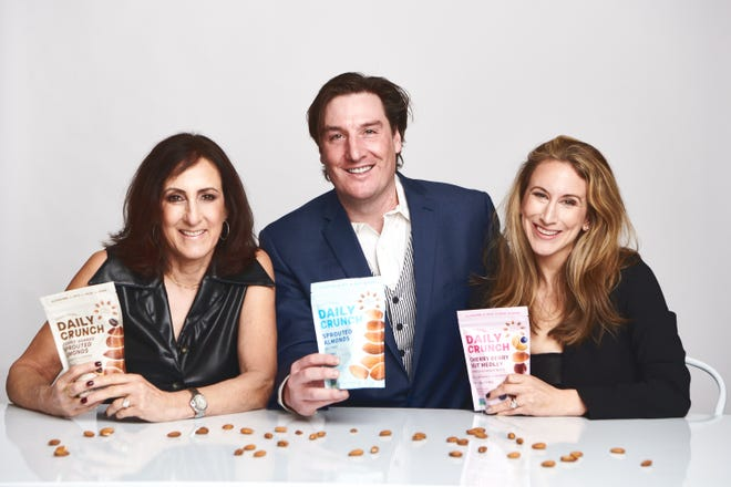 Diane Orley, Dan Stephenson and Laurel Orley have launched Daily Crunch Snacks. Diane Orley, left, lives in Birmingham.