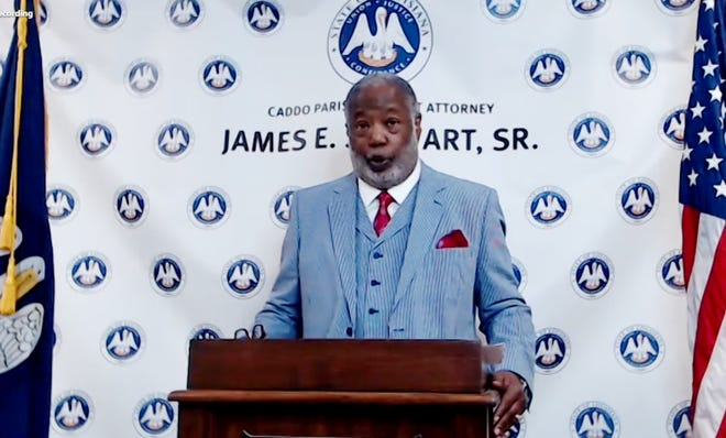 A screen grab from James Stewart's press conference on Zoom Monday, June 30, 2020.
