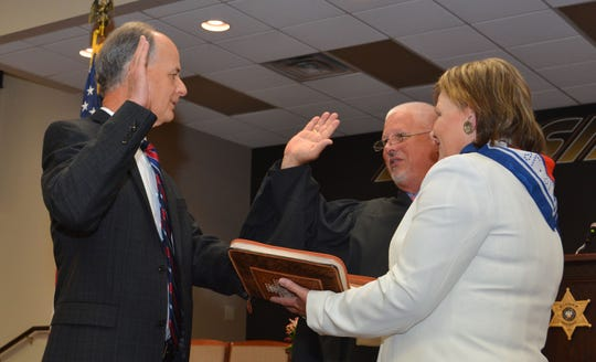 Bossier Parish Sheriff Julian Whittington was sworn in on Tuesday, June 30, 2020, for his third term as Bossier Sheriff.