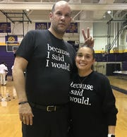 Todd and Toni Martinez will work together with the Benton boys basketball team this fall.