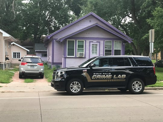 The Sioux Falls Police Crime Lab investigates a fatal shooting at 800 N. Prairie Avenue. Tracy Saboe was shot and killed at the home on Monday, police say.