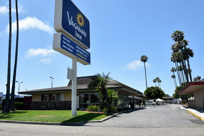 Vagabond Inn in Oxnard is one of four area motels that were leased by the County of Ventura to house the homeless during the COVID-19 pandemic.