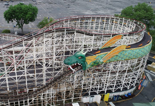 The Dragon Coaster at Playland Park in Rye June 30, 2020.