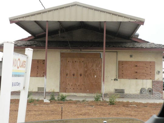 In the 1990's boarded up dairies in the former big dairy area at Chino were increasing in number as the cows moved to Tulare.