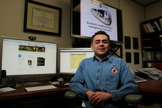 Victor Cabrera is director of Dairy Brain, which aims to develop software that provides farmers with continuous readouts on the state of their operations and the health of their herds.