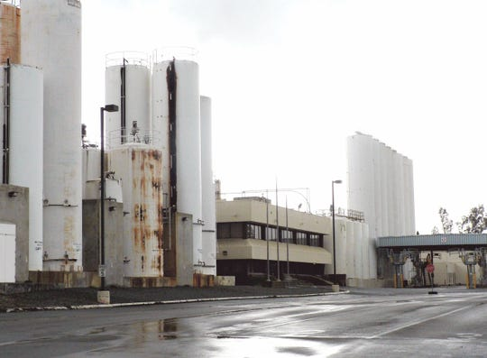"""The Golden Cheese Company at Corona, California was the """"biggest cheese factory ever"""" then, only operated from 1985-2007. It died when the cows moved north and remained empty for a dozen years."""