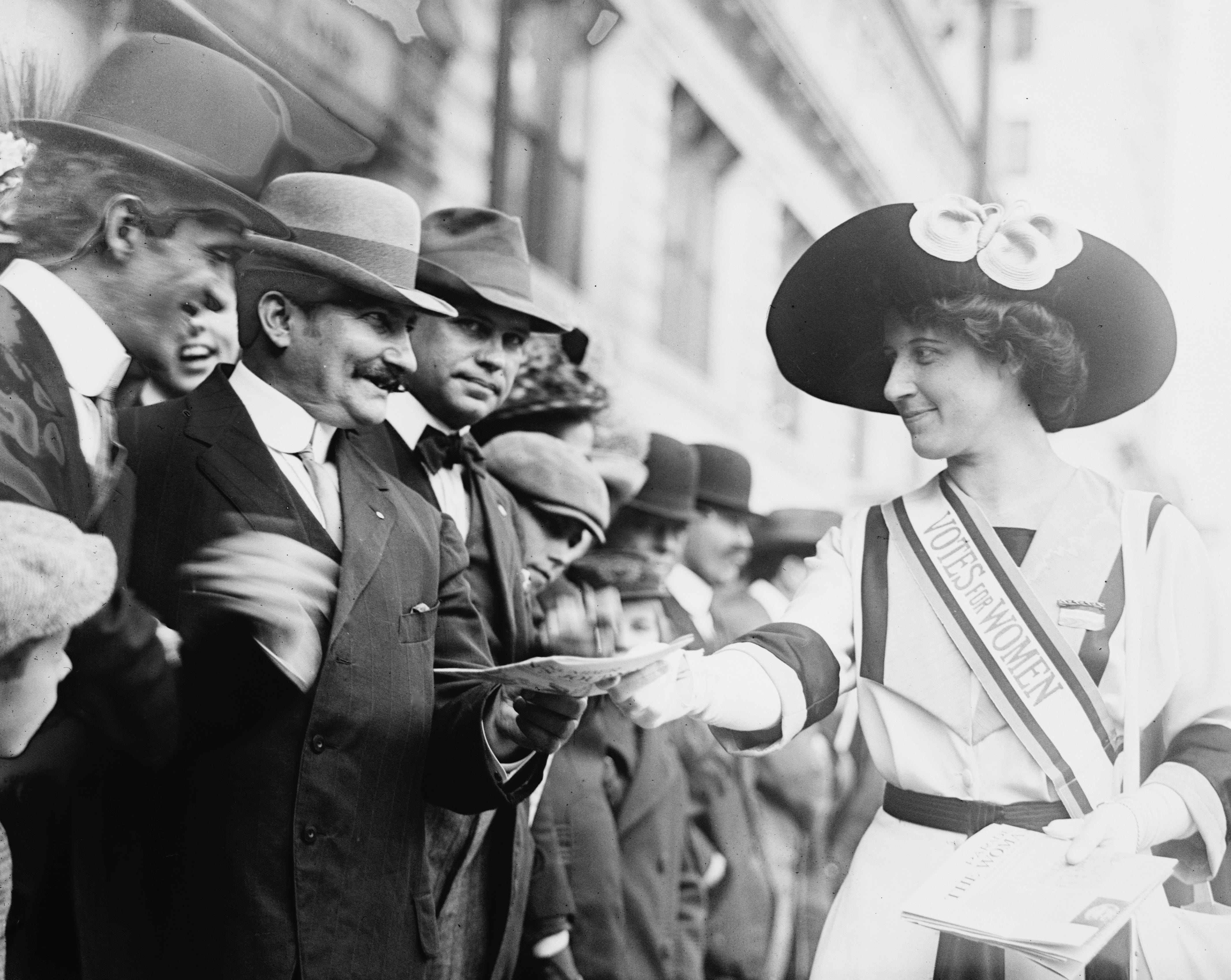 Inez Milholland crusades for the ability for women to vote in New York in 1912.